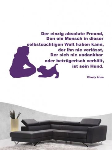 Hunde-Zitat 33 Wandtattoo von Anfalas.de