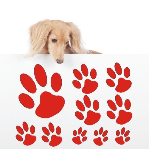 Hundepfote Wandtattoo