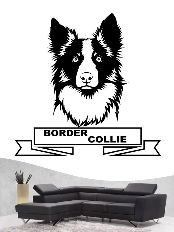 border collie 15b hundewandtattoo in eigener farbe