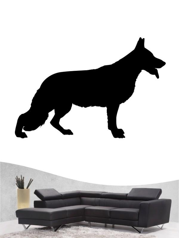 deutscher schäferhund 1 hundewandtattoo mit eigenem text