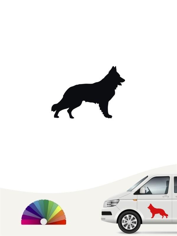 1a Farben.Deutscher Schäferhund 1a Mini Aufkleber