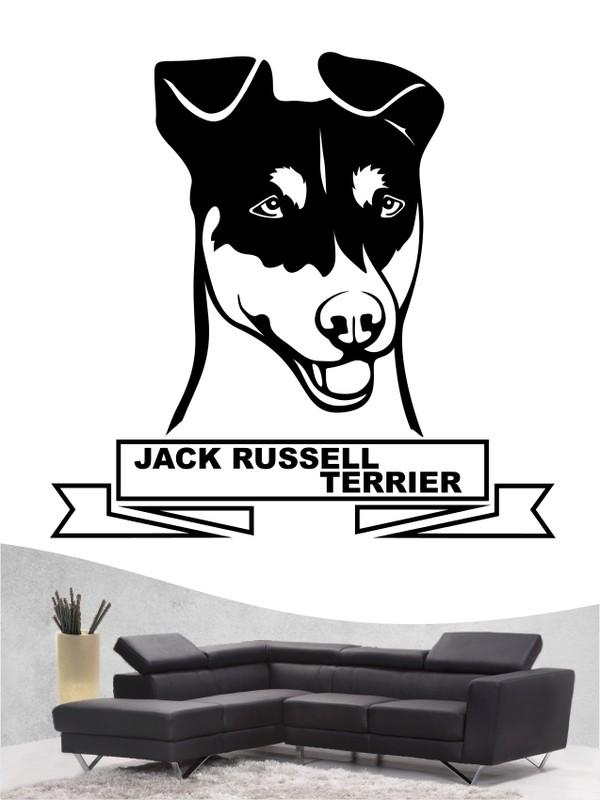 jack russell terrier 16 hundewandtattoo in eigener farbe