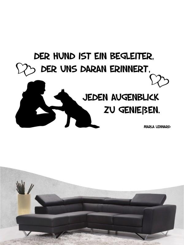 Hunde Zitat 17 Wandtattoo in eigener Farbe und Größe by