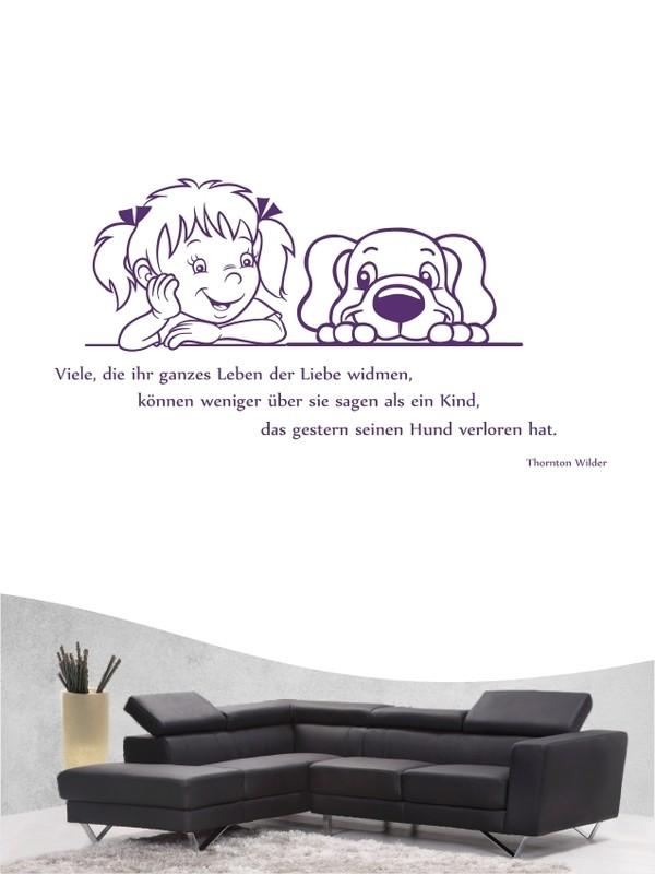 Hunde Zitat 18 Wandtattoo in eigener Farbe und Größe by