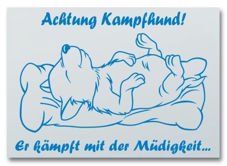 """Hundeschild """"Achtung Kampfhund"""""""
