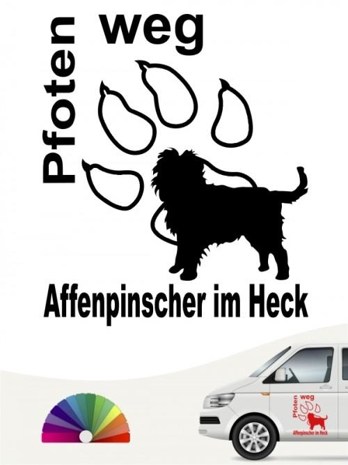 Hunde-Autoaufkleber Affenpinscher 5 von Anfalas.de