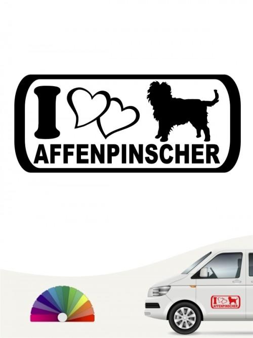 Hunde-Autoaufkleber Affenpinscher 6 von Anfalas.de