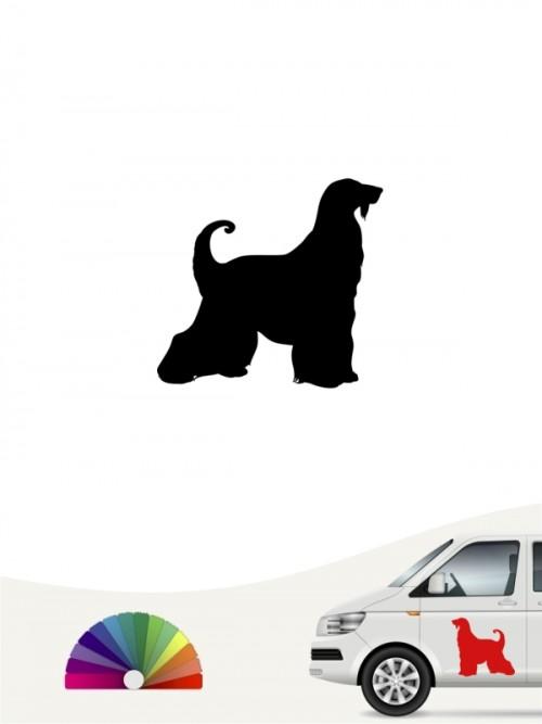 Hunde-Autoaufkleber Afghane 1 Mini von Anfalas.de