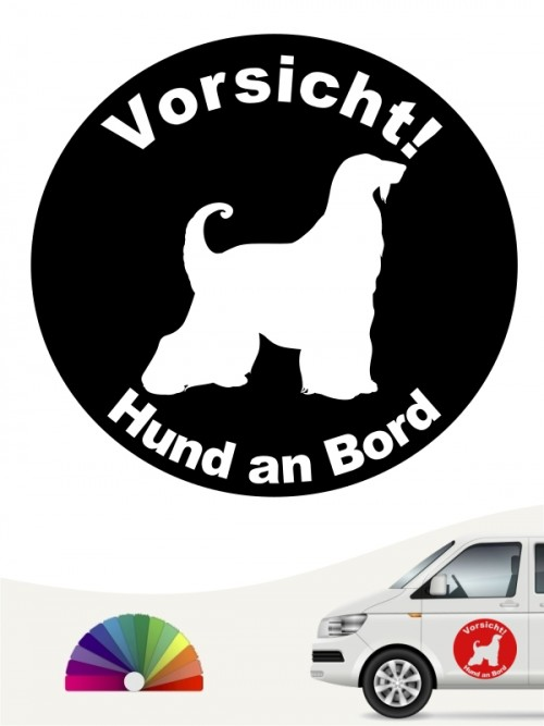 Afghane Hund an Bord Aufkleber anfalas.de
