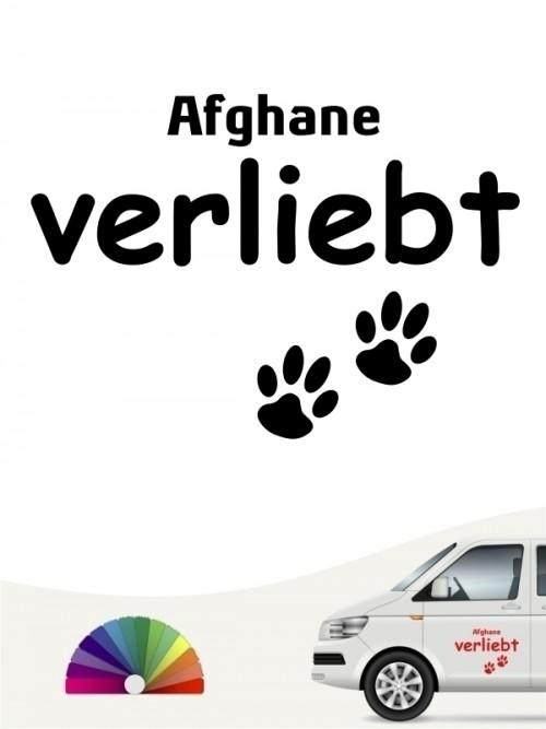 Hunde-Autoaufkleber Afghane verliebt von Anfalas.de