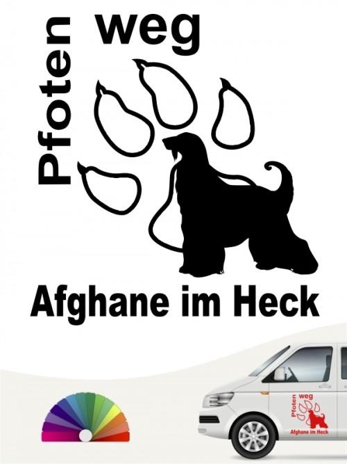 Pfoten weg Afghane im Heck Autoaufkleber anfalas.de