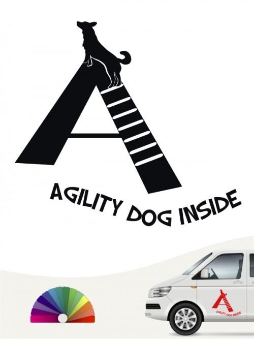Agility Team Heckscheibenaufkleber mit Wunschtext von anfalas.de
