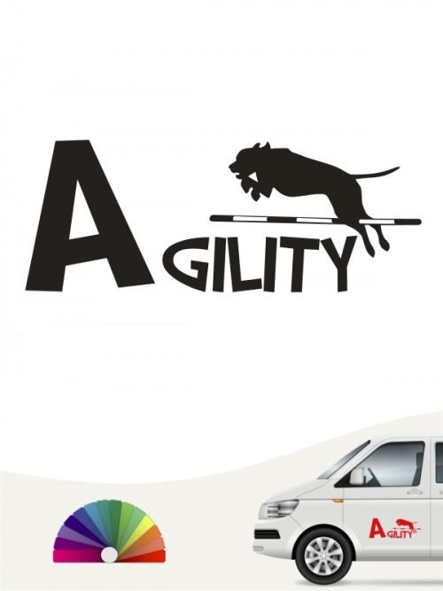 Hunde-Autoaufkleber Agility 20 von Anfalas.de