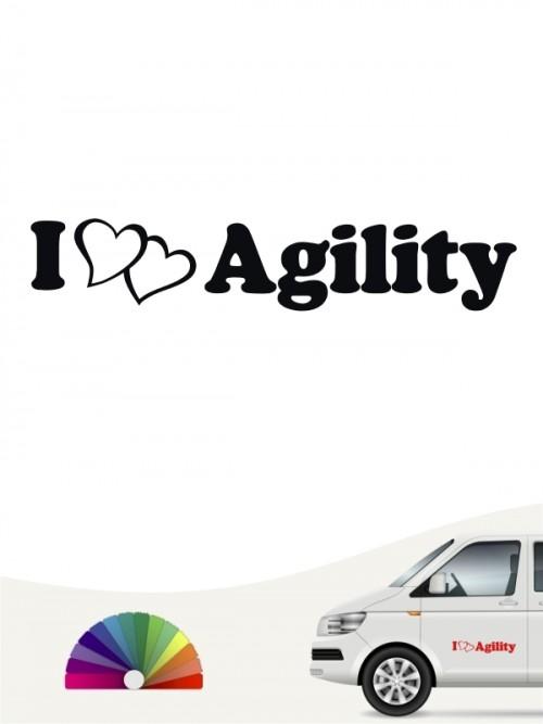 I love Agility Aufkleber von anfalas.de
