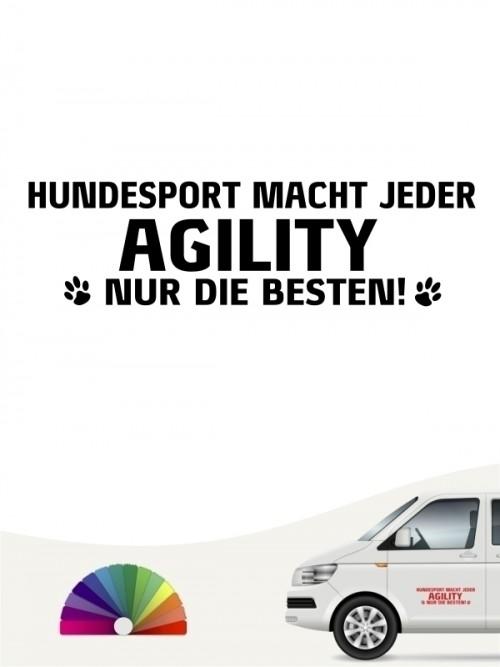Hunde-Autoaufkleber Agility nur die Besten von Anfalas.de