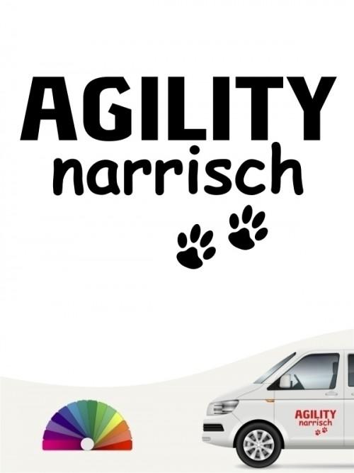 Hunde-Autoaufkleber Agility narrisch von Anfalas.de