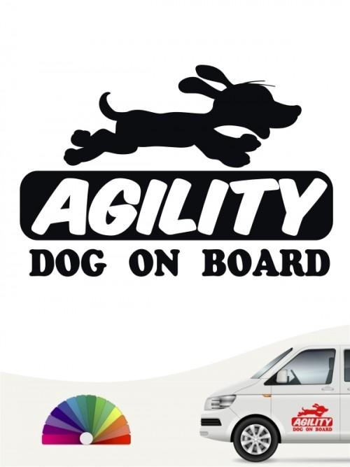 Hunde-Autoaufkleber Agility 5 von Anfalas.de