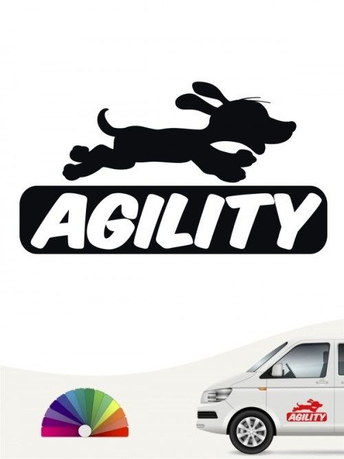 Agility is fun Autosticker von anfalas.de