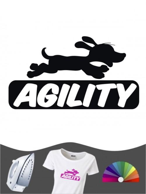Hunde-Bügelbild Agility 6 von Anfalas.de
