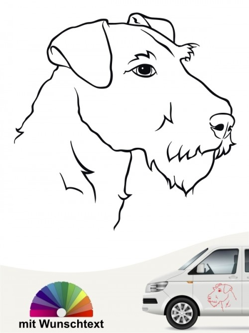 Airedale Terrier Kopf mit Namen anfalas.de