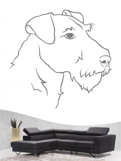 Airedale Terrier 11 - Wandtattoo