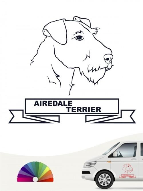 Hunde-Autoaufkleber Airedale Terrier 16 von Anfalas.de