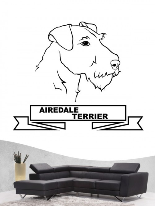 Hunde-Wandtattoo Airedale Terrier 16 von Anfalas.de