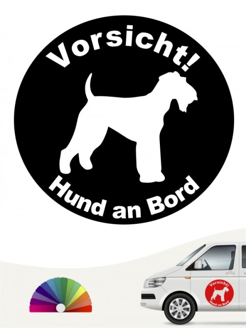 Airedale Terrier Hund an Bord Aufkleber anfalas.de