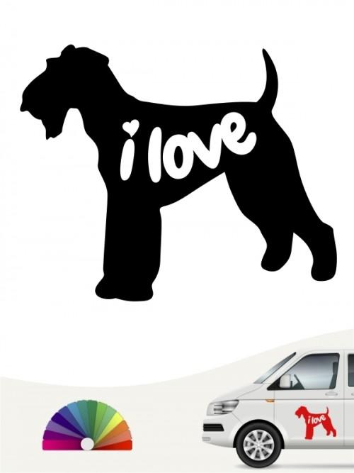 Airedale Terrier i love Aufkleber anfalas.de