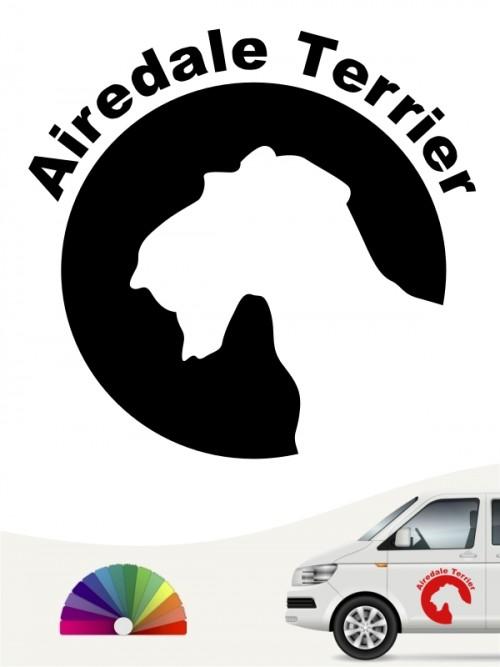 Airedale Terrier Aufkleber von anfalas.de