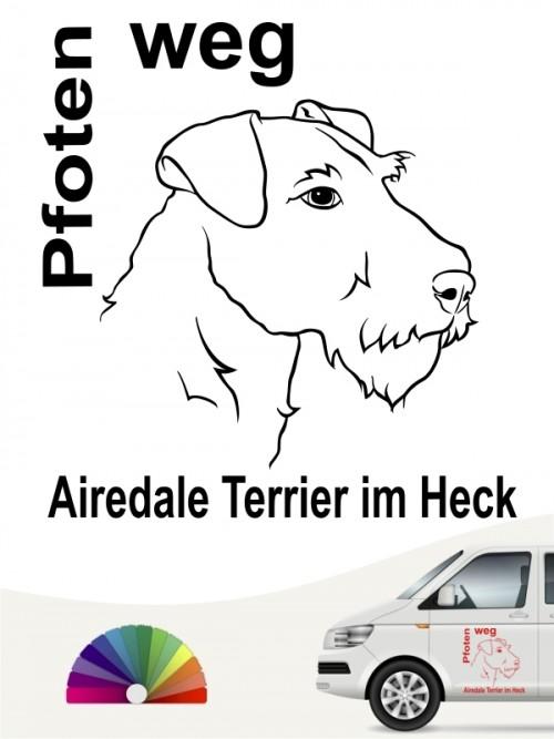 Airedale Terrier Pfoten weg Aufkleber anfalas.de