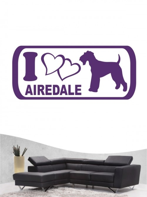 Airedale Terrier 6 - Wandtattoo