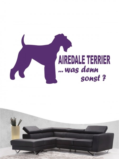 Airedale Terrier 7 - Wandtattoo