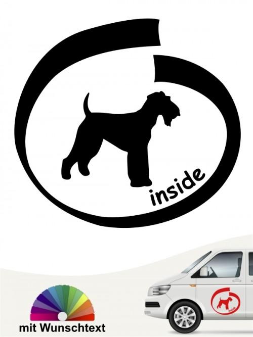 Airedale Terrier inside Hundeaufkleber mit Wunschtext anfalas.de