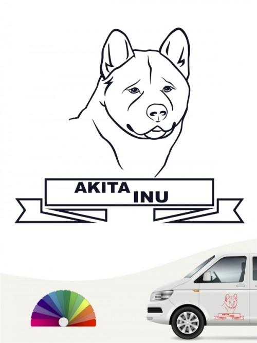 Hunde-Autoaufkleber Akita Inu 16 von Anfalas.de