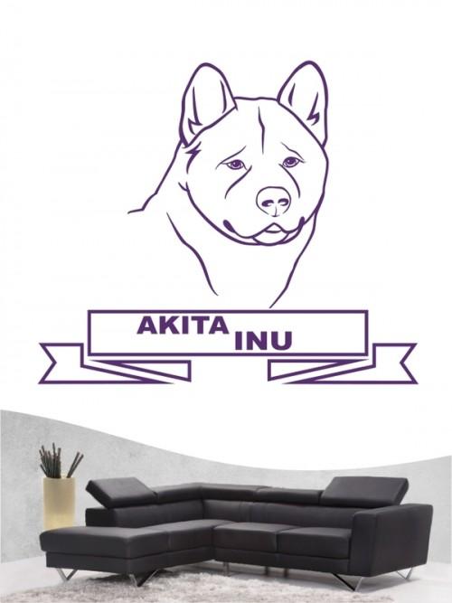 Hunde-Wandtattoo Akita Inu 16 von Anfalas.de