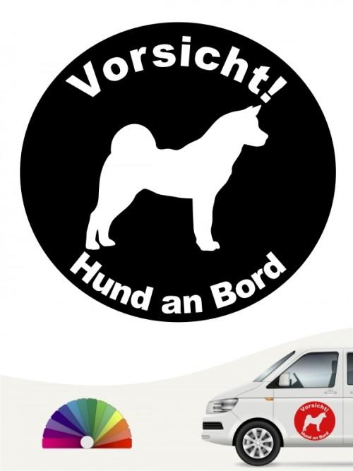 Akita Inu Hund an Bord Aufkleber anfalas.de
