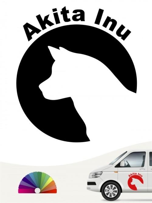 Akita Inu Autoaufkleber von anfalas.de