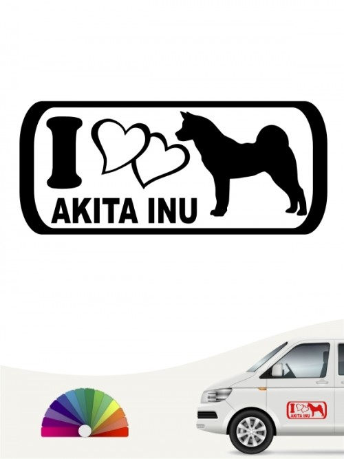 Akita Inu I Love Hundeaufkleber anfalas.de