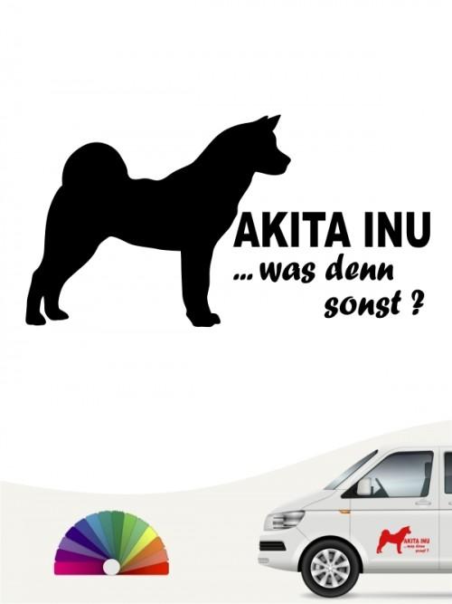 Akita Inu was denn sonst Aufkleber anfalas.de