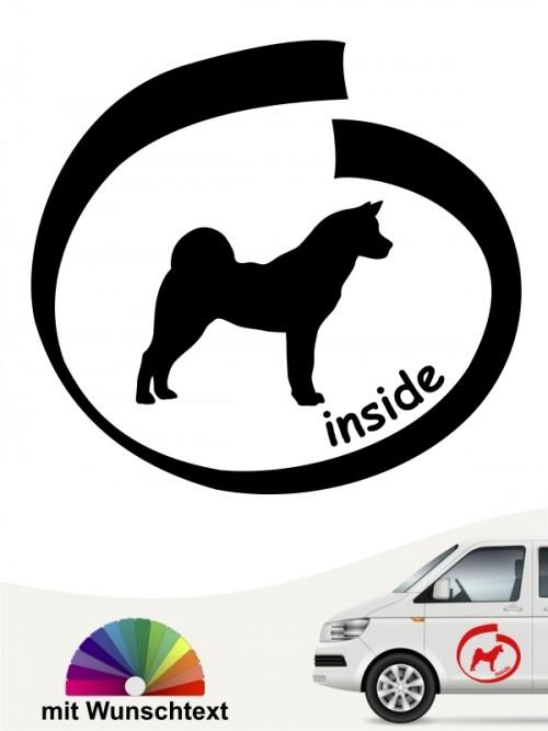 Akita Inu inside Autoaufkleber mit Wunschtext anfalas.de