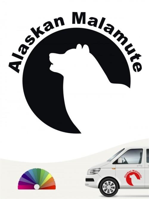 Alaskan Malamute Hundeaufkleber von anfalas.de