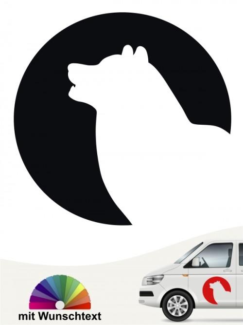 Alaskan Malamute Autoaufkleber von anfalas.de