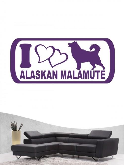 Alaskan Malamute 6 - Wandtattoo