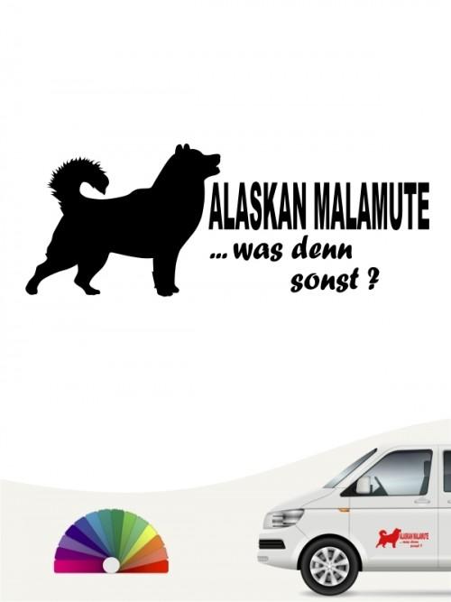 Alaskan Malamute was denn sonst Sticker anfalas.de