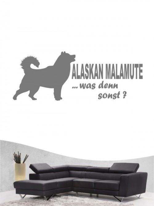 Alaskan Malamute 7 - Wandtattoo