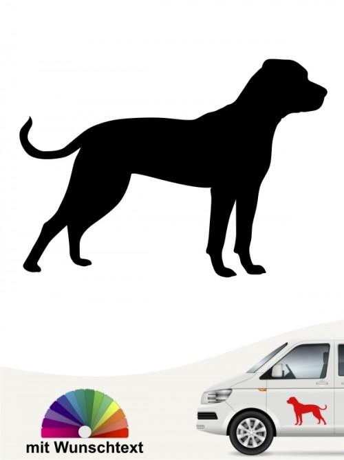 American Bulldog mit Wunschtext Hundeaufkleber anfalas.de