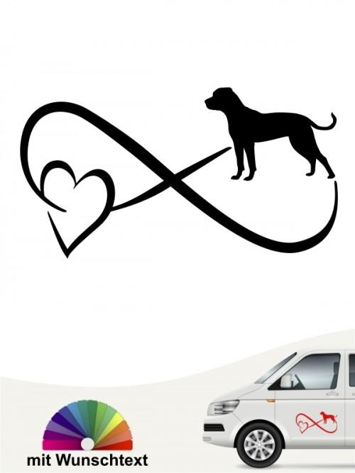 American Bulldog mit Wunschtext von anfalas.de