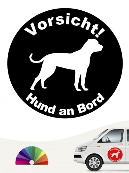 American Bulldog Hund an Bord Aufkleber anfalas.de