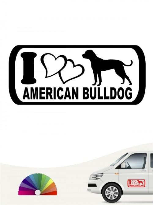 I Love American Bulldog Aufkleber anfalas.de